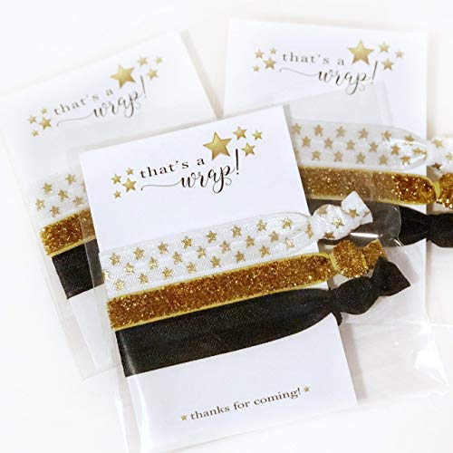 Movie Theme Party Favors for Birthday Baby Shower Bridal Bachelorette and More - Hair Ties - 5 Pack -