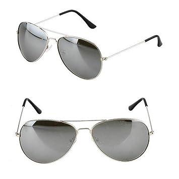 CCGSDJ Moda Clásico Gafas De Sol Mujeres Hombres Espejo De ...