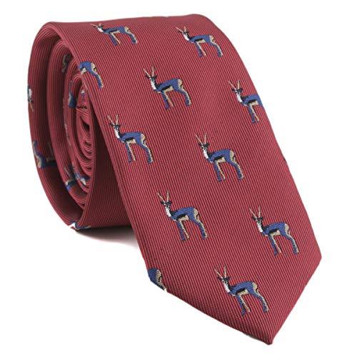 Men Boys Dark Red Silk Elegant Neck Novelty Ties Tibetan Antelope Best Tuxedo Formal Wedding Dress Neckties for Boyfriend Gift
