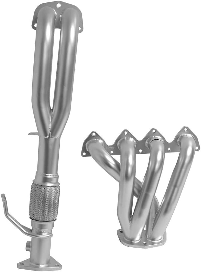 Silver DC Sports HHC5029 Honda Prelude VTEC 4-2-1 Header with Ceramic Coating and 2.5 Collector