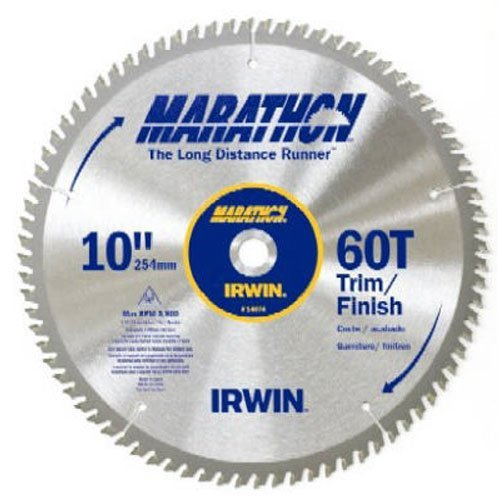 Irwin Tools Marathon Carbide Table Miter Circular Blade  10 Inch  60T  14074