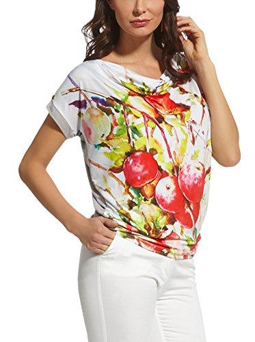 Ennywear 210042 Camiseta Con Manga Corta Con Print Colorido - Hecho En La UE Blanco / Multicolor