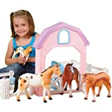 CP Toys My First Pretend Play Pony Corral with 4 Horses