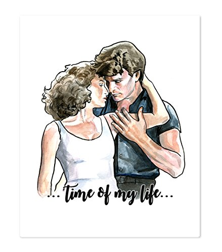 Dancing Art Poster - AtoZStudio A43 Dirty Dancing Inspired Wall Art Home Decor Poster Print - Patrick Swayze - Jennifer Grey - Classic Romantic Movie - Portrait Artwork Picture Painting (8x10)