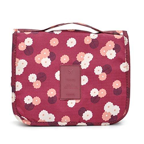 Price comparison product image SAGAGNA Business Trips Hanging Wash Bag Cosmetic Bag Large Capacity Shower Storage Bag for Women Men