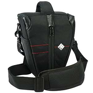 First2savvv BDV2308 professional hardwearing SLR digital camera case bag for OLYMPUS SP-510 UZ C-1400L C-1400XL C-2500L C-5050 ZOOM with UV lens filter protection bag case
