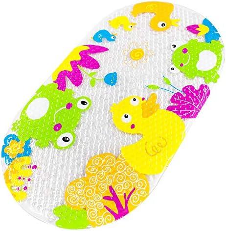 Farbige Ente Yolife Kinder Badewannenmatte rutschfeste Matte f/ür Kinder Badematte mit starken Saugn/äpfen am Boden f/ür Kleinkinder
