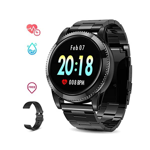 GOKOO Smart Watch for Men with All-Day Heart Rate Blood Pressure Sleep Monitor IP67Waterproof...