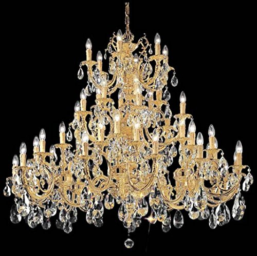 Classic Lighting 5748 G C Princeton, Crystal Cast Brass, Chandelier, 24k Gold Plate ()
