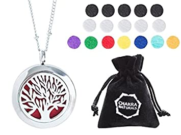 Amazoncom Aromatherapy Necklace Tree Of Life Design Essential