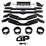 BlackPath - Polaris 3'' Lift Kit + Sway Bar Quick Disconnect + Spring Spacers RZR 800 Side-By-Side ATV Suspension Lift (Black) High Carbon Steel
