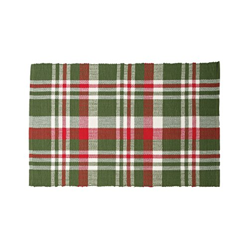 C&F Home Owen Plaid Woven Placemat Set of - Red Green Placemat