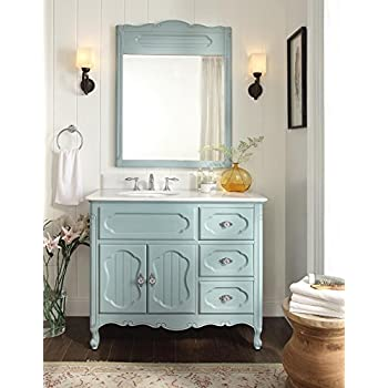 42 victorian cottage light blue knoxville bathroom sink vanity wmirror gd - Bathroom Sink And Mirror
