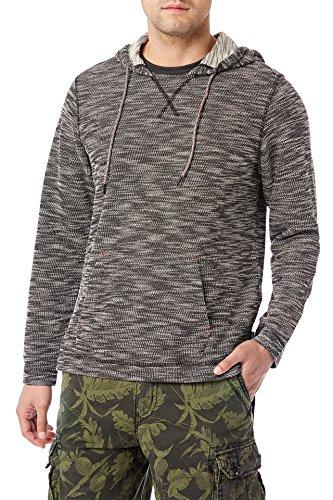 Terry Hoodie - UNIONBAY Men's Long Sleeve French Terry Pullover Hoodie Sweatshirt, New Black, Medium