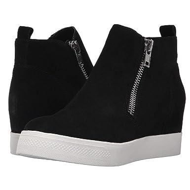 f874675650 Amazon.com: Enjoybuy Womens High Top Hidden High Heel Wedge Sneakers Casual  Zip Up Ankle Booties: Clothing