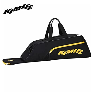 KIMLEE Sac Baseball Softball Sac de Champ Player Field Bag Sac à Main Homme Femme Sport Sac de Voyage noir