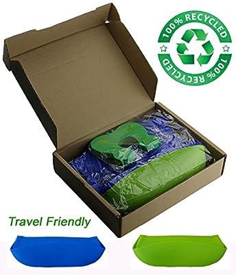 Bébé Earth® Soft Bibs - 2pack - Green/Yellow