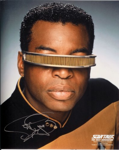 Burton Signed Photo - Levar Burton in Star Trek The Next Generation Signed Autographed 8 X 10 Reprint Photo - Mint Condition