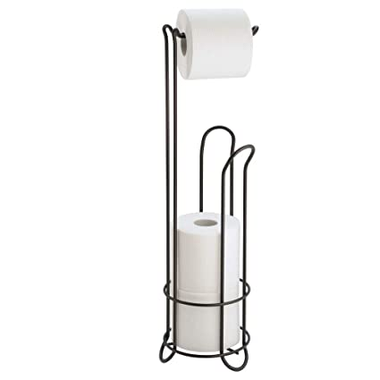 a6882986989f90 InterDesign Classico Metal Free Standing Toilet Paper Tissue Holder, Roll  Reserve Canister for Kids'