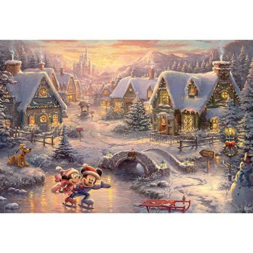 (Johnson Smith Co. - CEACO Thomas Kinkade Disney Christmas Puzzle 2000 Pieces Mickey Minnie Mouse)