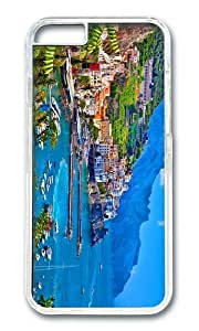 MOKSHOP Uncommon Nice Amalfi Italy Coast Hard Case Protective Shell Cell Phone Cover For Apple Iphone 6 Plus (5.5 Inch) - PC Transparent
