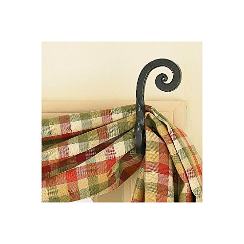 Park Designs Curtain Hooks - Iron - Forged Scroll Pair