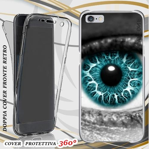CUSTODIA COVER CASE THE EYE PER IPHONE 6 FRONT BACK