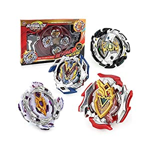 CLeternal Bay Battle Burst Avatar Attack Battle Set Winning Valkyrie.12VI. Zet Achilles 11XT Balance. Emperor Forneus.0Yr. Bloody Longinus.13JI with Two String Launcher and Grip Starter Set (White)
