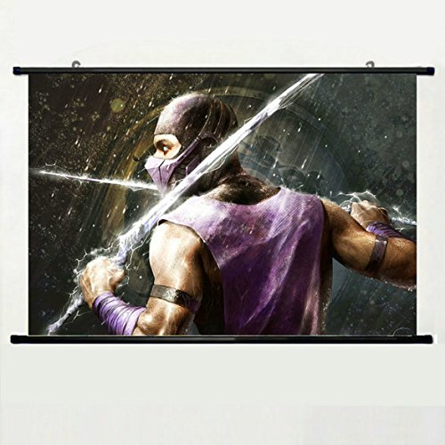 (Wall Scroll Poster with Mortal Kombat Rain Hero Swords Suit Home Decor Wall Posters Fabric Painting 23.6 X 15.7)