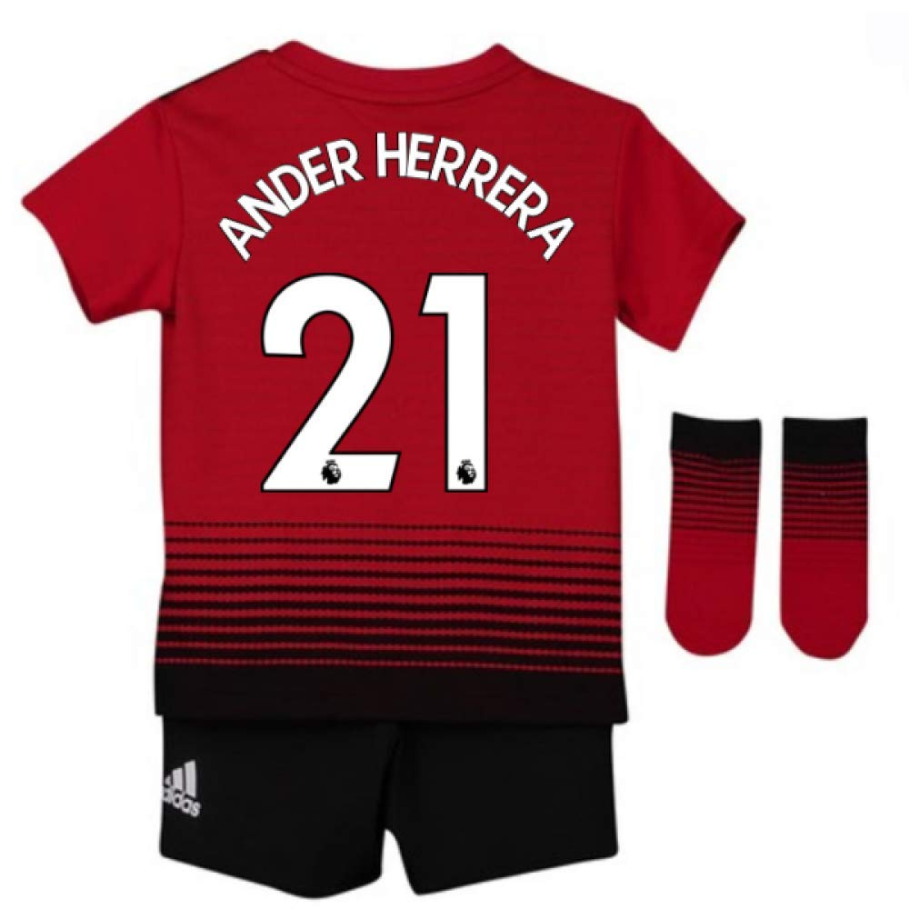 UKSoccershop 2018-2019 Man Utd Adidas Home Baby Kit (Ander Herrera 21)