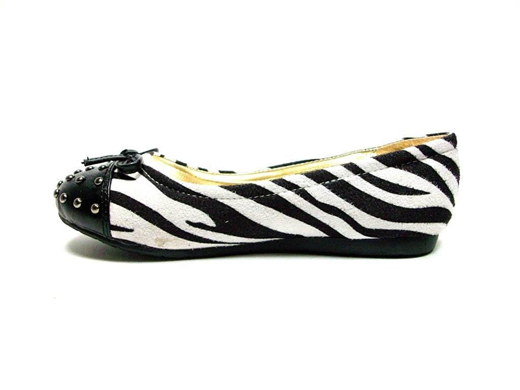 Little Angel Girls Seren655-Zebra Slip on Flats Seren655Zebra