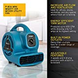 XPOWER P-80A Mini Mighty Air Mover Utility Fan with