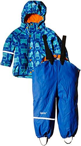 CareTec Jungen wasserdichte Regenlatzhose und -jacke im Set, Gr. 104, Blau (Sea Blue 706)