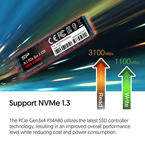 Silicon Power 256GB NVMe M.2 PCIe Gen3x4 2280 TLC SSD (SU256GBP34A80M28AB)