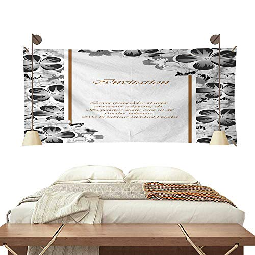 BlountDecor Simple Tapestry Frame of Monochrome Colors for Design Postcards Greeting Invitation for a Birthday Valentine s Day Wedding Party Holiday 84W x 70L Inch ()