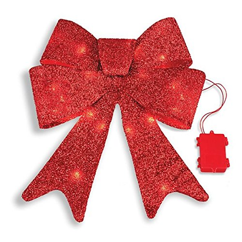 Outdoor Lighted Christmas Swag And Bow - 5