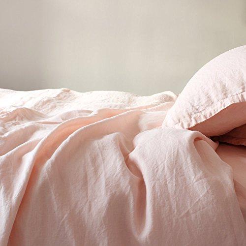 Merryfeel 100% Linen Duvet Cover Set - Full/Queen - Light Pink by Merryfeel (Image #3)