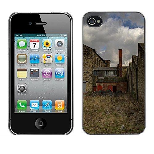 Premio Sottile Slim Cassa Custodia Case Cover Shell // F00025316 usine désaffectée // Apple iPhone 4 4S 4G