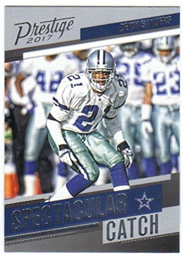 2017 Panini Prestige Football Spectacular Catch #28 Deion Sanders Cowboys -