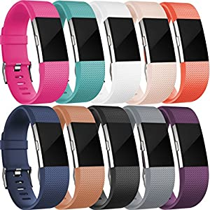 Replacement Bands for Fitbit Charge 2, Fitbit Charge2 Wristbands, Small,10 colors