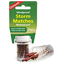 Coghlan\'s 1170 Storm Matches - 25-Pack