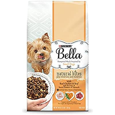 Purina Bella Pampered Meals Inspired by Small Dogs -with Real Chicken & Beef Accents of Sweet Potatoes & Spinach (3 LB Bag)