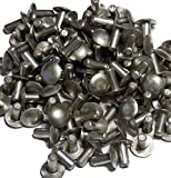 100 pc Solid Aluminum Rivets Brazier Head 3/16'' x 7/16''