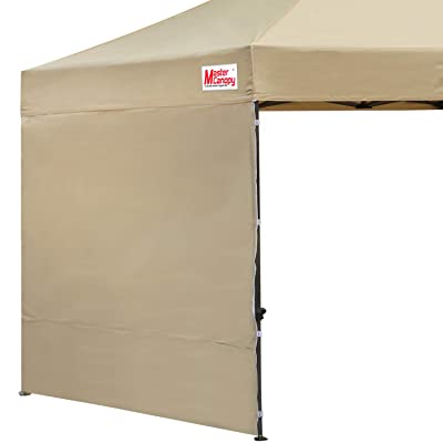 MASTERCANOPY Instant Canopy Tent Sidewall for 10x10 Pop Up Canopy, 1 Pack (10x10 Feet, Beige) : Garden & Outdoor