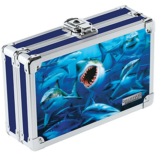 - Vaultz 3D Lenticular Locking Pencil Box, 5.5 x 8.25 x 2.5 Inches, Sharks (VZ00292)