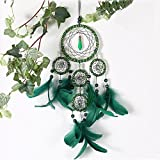 Karleksliv Green forest memory five circles handmade Decorative Dream Catchers hunter substance new Year decoration 4.33″ Diameter x 19.68″ Long XM020