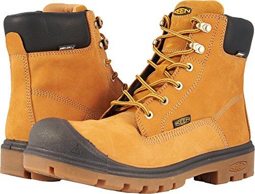 (KEEN Utility Men's Baltimore 6 '' Soft Toe Waterproof Industrial Boot, Wheat, 12 2E US)