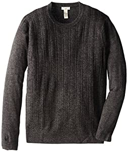Dockers Men's Solid Texture Chevron and Cable, Asphalt, X-Large/Tall