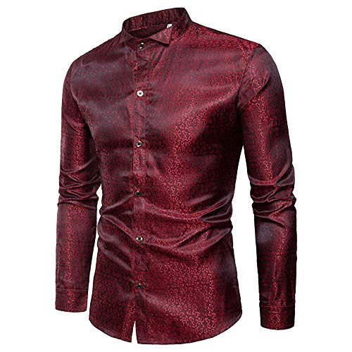 ZYEE Clearance Sale!Men's Long Sleeve Men Shirt Slim Fit Casual Button Shirts Formal Top Blouse