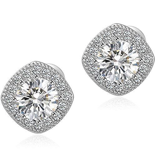 Stud Earrings Fashion CZ Crystal Earrings Square Earrings for Women for $<!--$5.99-->